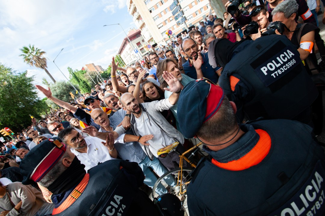 """Shows of support the morning of """"Operation Judas"""". Sabadell, Barcelona; September 23, 2019."""